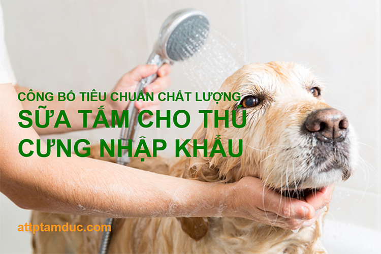 Công bố tiêu chuẩn chất lượng cho sữa tắm thú cưng nhập khẩu tại Việt Nam