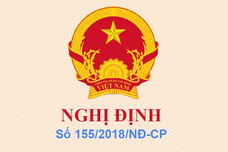 Nghị định số 155/2018/NĐ-CP ngày 12/11/2018 của Bộ Y Tế