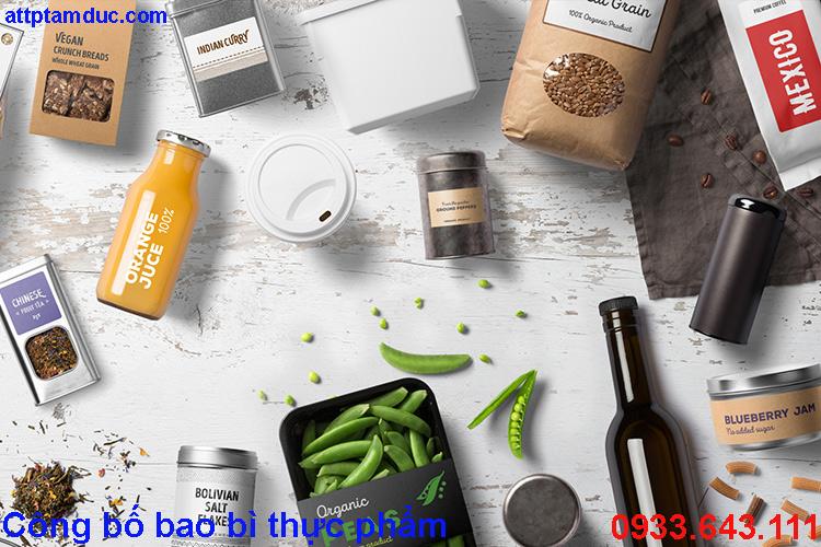 Công bố bao bì thực phẩm tại Hà Nội