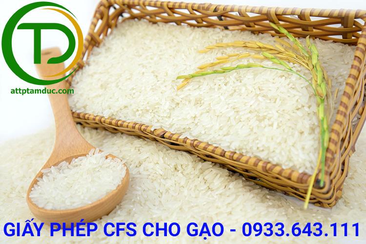 Dịch vụ làm giấy chứng nhận lưu hành tự do CFS sản phẩm gạo tại Hồ Chí Minh