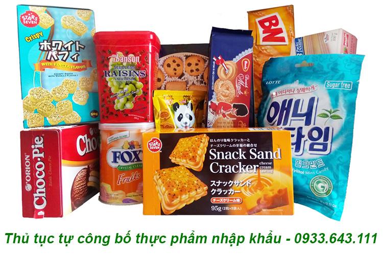 Thủ tục đăng ký bản tự công bố sản phẩm thực phẩm nhập khẩu