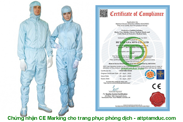 Chứng nhận CE Marking cho trang phục phòng dịch